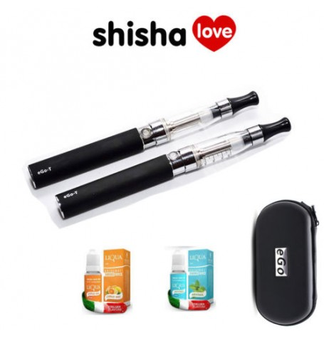 2 x eGo-T CE4 Blister Electronic Cigarette Single Kit (Reusable) Two Free Flavours & Case!